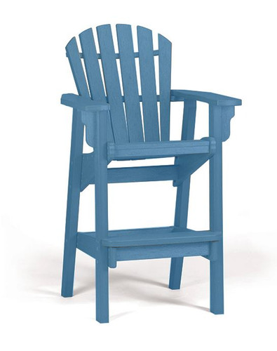 Coastal Adirondack Bar Stool
