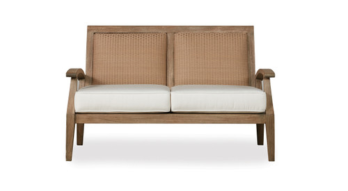 Lloyd Flanders Wildwood Teak Loveseat Outdoor Teak Furniture