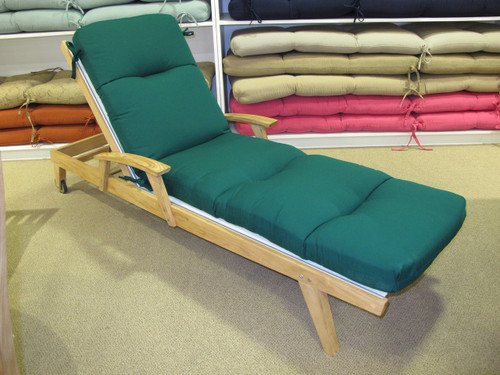 Chaise Lounge Cushion - Canvas Forest Green