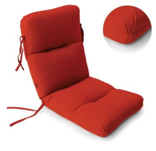 High Back  Seat Cushion - Canvas Jockey Red