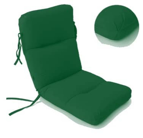 High Back Seat Cushion - Canvas Forest Green