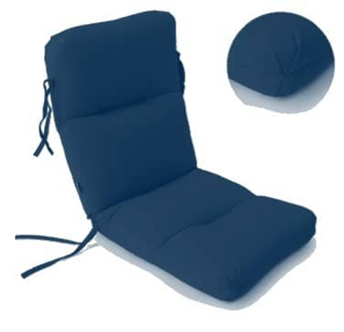 High Back Seat Cushion - Canvas Navy