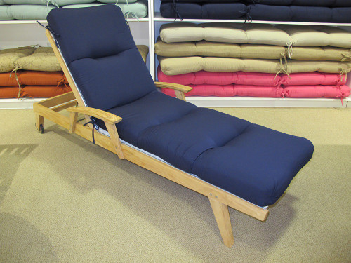 Chaise Lounge Cushion - Canvas Navy