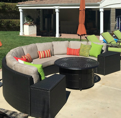 Del Mar Curved Sectionals