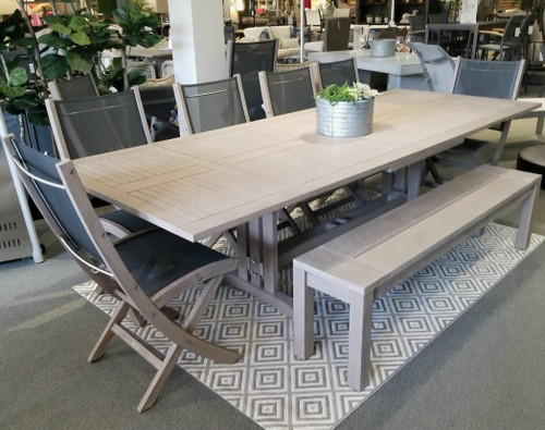 Sillage Weathered Teak Extension Dining Table