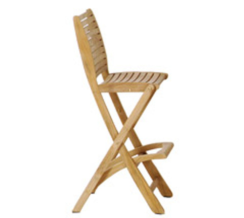 Teak Sillage Bar Stool