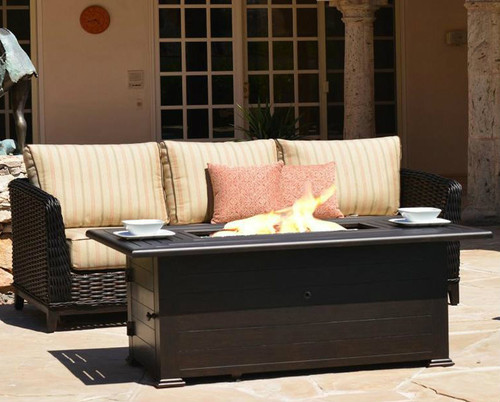Slatted 36x58 Rectangular Fire Pit