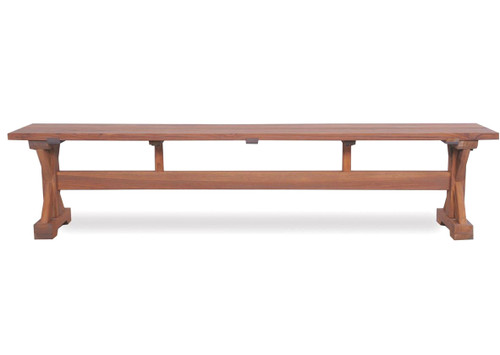 Teak Trestle Backless Bench