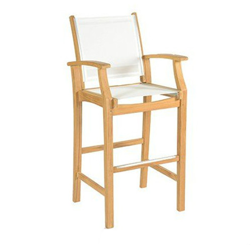 Avalon Teak Sling Bar Stool