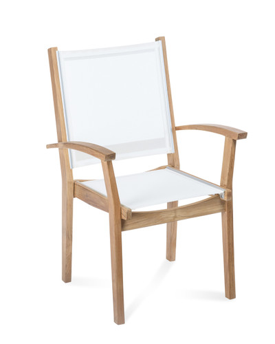 Avalon Teak Sling Arm Chair