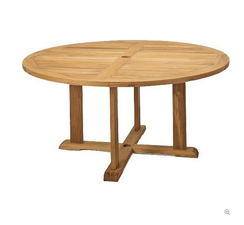 "Avalon 72"" Round Teak Dining Table"