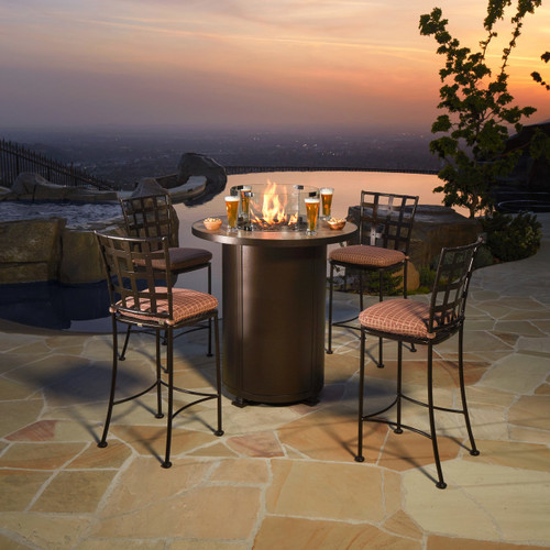 "Santorini 36""  Round Counter Height Fire Pit"