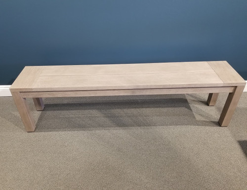Stafford Backless Weathered Teak Bench
