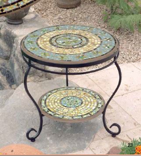 KNF - Neille Olson Round Mosaic Side Table