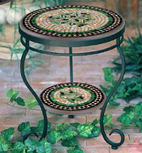 KNF - Neille Olson Round Mosaic End Table