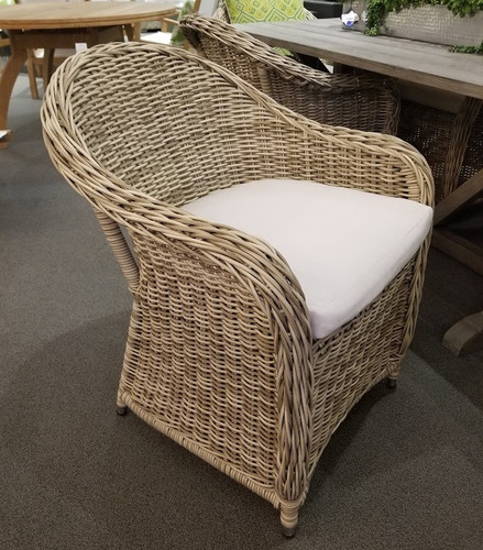 Antique Wicker Barrel DIning Chair