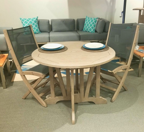 Gate Leg Folding Teak Table & Chairs