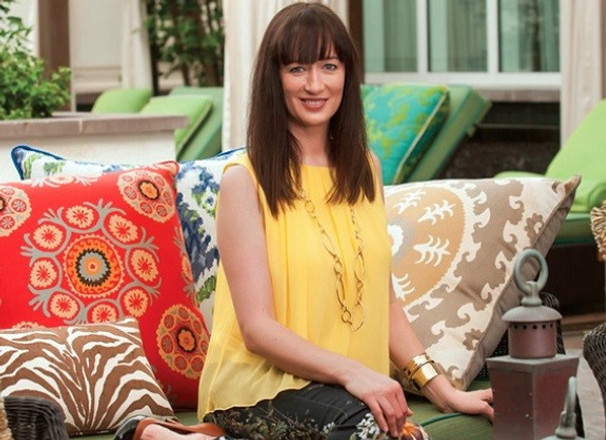 A Patio Makeover with Elaine Smith Outdoor Pillows
