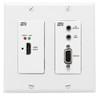 Hall Research HDMI+RS232+IR+PoH UTP ( Dual Gang Wall Plate Sender), UHBX-SC-WP
