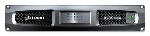 Crown Four channel 2400W @ 4 Ohm Power Amplifier with BLU Link, 70V/100V, DCi4|2400N