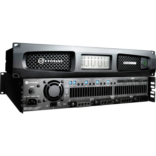 Crown Eight channel 600W @ 4 Ohm Power Amplifier with BLU Link, 70V/100V, DCi8|600N