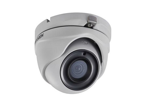 Hikvision Outdoor IR Turret, TurboHD 3.0, HD-TVI, 3MP, 2.8mm, 20m EXIR 2.0, Day/Night, True WDR, Smart IR, IP66, 12 VDC, DS-2CE56F7T-ITM-2.8MM