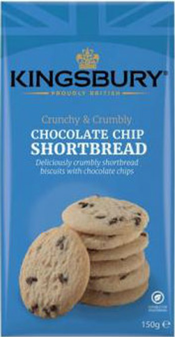 Kingsbury Chocolate Chip Shortbread Biscuits 150g