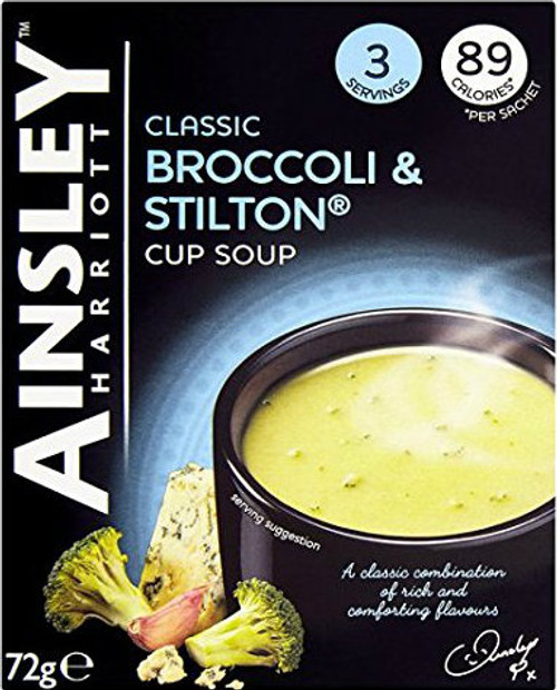 Ainsley Harriott Broccoli and Stilton Soup Pack of 3