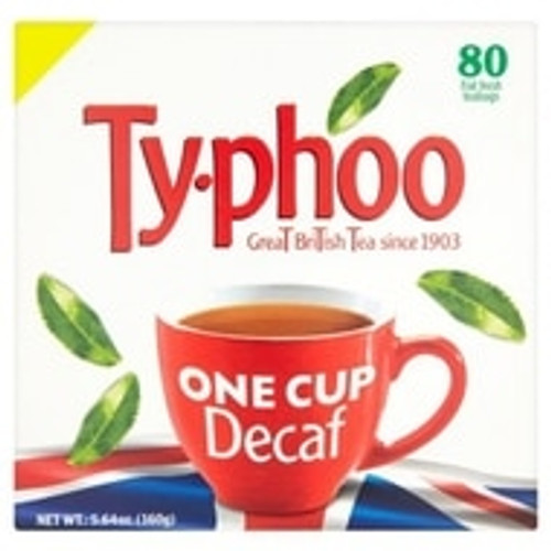 Typhoo Decaf 1 Cup 80Tea Bag's