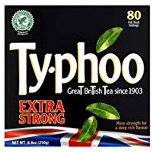 Typhoo Extrta Strong Tea 80 Tea Bag's
