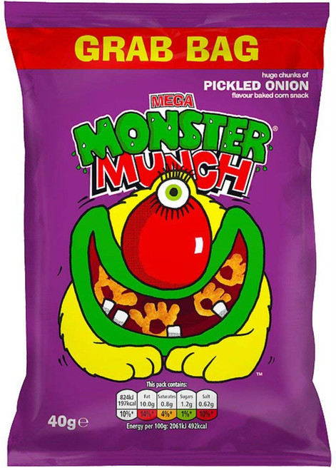 Monster Munch Pickled Onion Big Grab Pack of 10