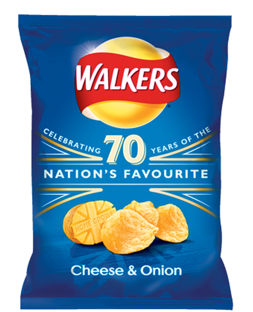 Walker's Cheese and Onion Crisps (32.5g / 1.15oz) *JULY 28 2018**