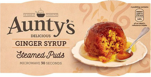 Aunty's Ginger Syrup Steamed Pudding pack of 2 (