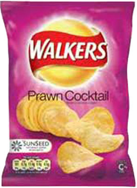 Walkers Prawn Cocktail Crisps (Case of 32 single-serving bags)