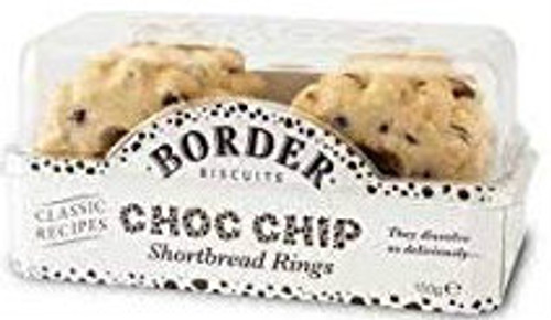Border Biscuits - Chocolate Chip Shortbread Rings 150g