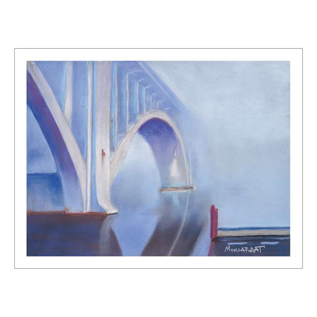 Henley Bridge in Fog