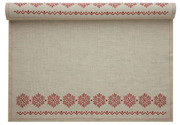 Natural with Snowflake Linen Printed Placemat - 12 Units Per Roll