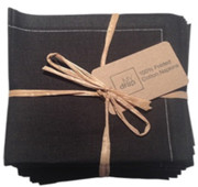 Black Cotton Folded Napkin -20 Units Per Pack