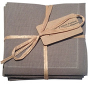 Grey Cotton Folded Napkin - 20 Units Per Pack