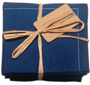 Midnight Blue Cotton Folded Napkin - 20 Units Per Pack