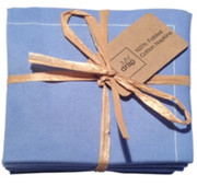 Sea Blue Cotton Folded Napkin - 20 Units Per Pack
