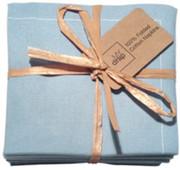 Sky Blue Cotton Folded Napkin - 20 Units Per Pack