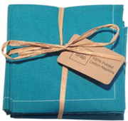Caribbean Green Cotton Folded Napkin - 20 Units Per Pack