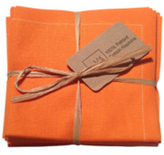 Orange Cotton Folded Napkin - 20 Units Per Pack
