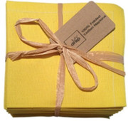 Lemon Cotton Folded Napkin - 20 Units Per Pack