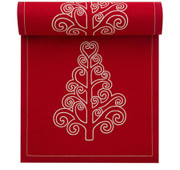 Red with Tree Cotton Printed Luncheon Napkin - 20 Units Per Roll