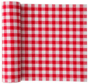 Red Vichy  Printed  Cotton Cocktail Napkin - 50 Units Per Roll