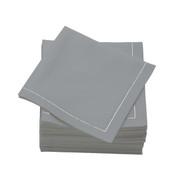 Pearl Grey  Cotton Folded  Cocktail Napkins -  600 units per case