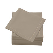 Sand  Cotton Folded  Cocktail Napkins -  600 units per case