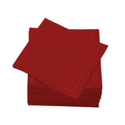 Lipstick Red  Cotton Folded  Cocktail  Napkins -  600 units per case